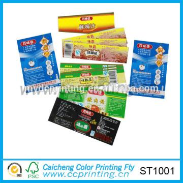 Kundenspezifisches selbstklebendes gedrucktes Barcode-Etikett