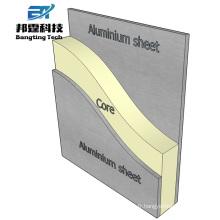 Revêtement extérieur matériaux de construction feuille composite acp aluminium