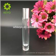 Transparente Rolle 8ml 10ml 12ml auf ätherisches Öl der Glasflasche des ätherischen Öls des starken Öls der starken Unterseite Glasflasche
