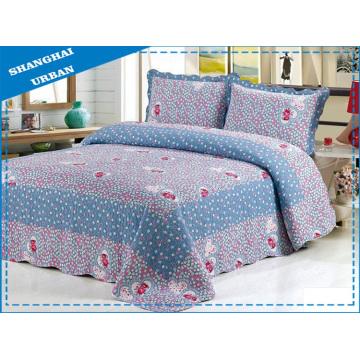 Colcha y edredón de cama de algodón de 3 piezas