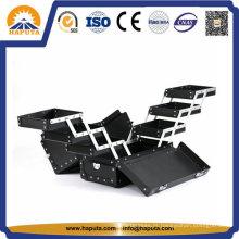 Maleta profissional de alumínio para trem com 6 bandejas (HB-1008)