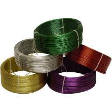 Железный провод в ПВХ, покрытый разным цветом