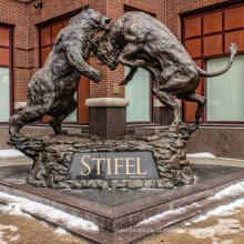 grande esculturas ao ar livre metal artesanato touro urso estátua para venda