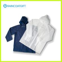 Erwachsene wasserdichte leichte klare PVC / EVA Regenmantel Rvc-036