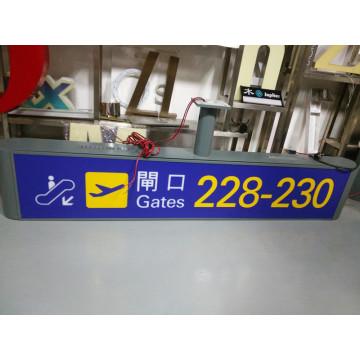 Metro Station Flughafen Indoor Innenraum kundenspezifische LED-Ausgang Eingang Guide Informationen Wayfinding Verzeichnis Signage
