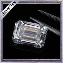 Precio de consulta Carat 7.5X5.5mm Clear White Emerald Cut Moissanite Diamond
