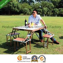 Aluminium-Legierung Picknick Klapptisch und Stühle-Sets für Outdoor-Möbel (PT-001A)