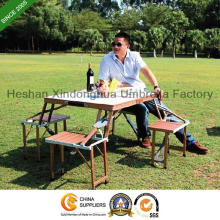 Aluminium Alloy Picnic Foldable Table and Chairs Sets for Outdoor Furniture (PT-001A)