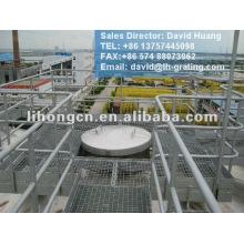 galvanized platform grating