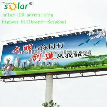 Nueva Junta Directiva de publicidad al aire libre de led solar de CE proyecto iluminación system(JR-960) de iluminación