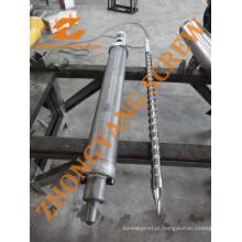 Parafuso e cilindro 46 mm para máquina de moldagem por injeção Chen Hsong 128 mk