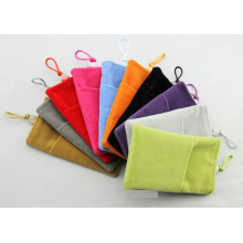 Colorfull velvet phone bag with logo printed