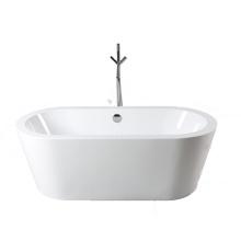 Bañera independiente ovalada de acrílico con borde grueso