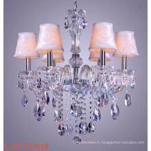 Verre de style européen verre clair chandelier lustre pour la maison 81016