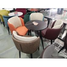 Nordic Marble Round Table And Dining Chair Combination