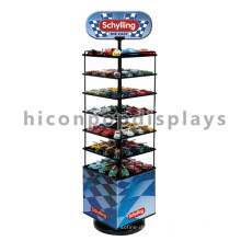 Custom Logo Kids Toys Retail Store Advertising Multi-Layer Metal Floor Toy Car Model Display Stand