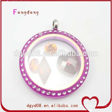 Round Shape Acrylic Screw Living Locket