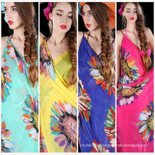 China hot sale scarf beach wraps women wholesale fashion one flower pareo