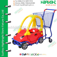plastic shopping trolley with toy cart for chidlren's fun