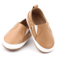 Slip-on Soft Leather Unisex Baby Casual Shoes