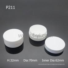 Cilindro Blanco Empty Maquillaje Embalaje Reciclado Plástico Jarrones Cosméticos