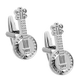 Popular ​Silver Banjo Cufflinks With Exceptional Detail