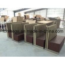 Usine adaptent la cabine de sofa de restaurant de 2 places (FOH-XM34-632)