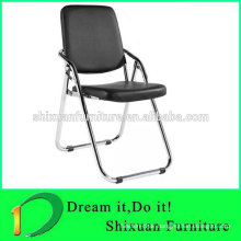 leather seat metal frame foldable chair