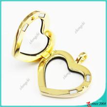 Aimant en cristal d'or médaillons bijoux