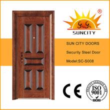 Теплообмен вход безопасности дверь из нержавеющей стали с ручкой (СК-S008)