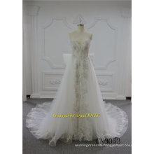 Factory Price Spaghetti Strap Wedding Dress Bridal Gown 2018