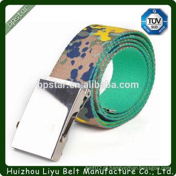 Força de moda impresso lona cinto moda algodão colorido malha Strap com fivela de metal de ferro acessórios de melhor qualidade