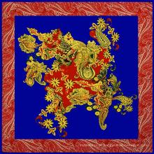 Top seller estilo Europeu marca nome imitado 100 * 100 lenço de seda indiano