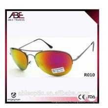 Американские унисекс металлические солнцезащитные очки с зеркальной линзой