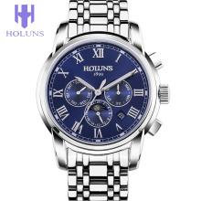 Luxe en acier inoxydable Large Dial Business Relogios Masculino Mechanical Multifunctional Man Sport Watch