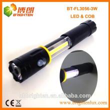 Alimentation en usine Super brillant 4XAAA Type de batterie 3 en 1 3W COB led torche flexible