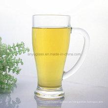 Taza de cristal del agua potable de la impresión del logotipo del OEM, taza de cerveza de cristal