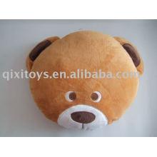 cojín del oso de peluche y relleno, juguete del amortiguador del cabrito animal