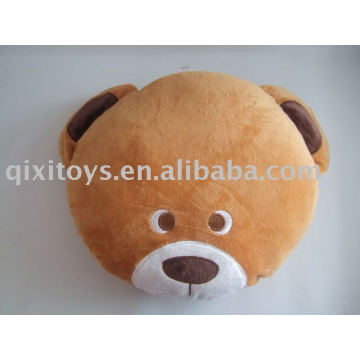 plush&stuffed bear cushion,animal kid's cushion toy