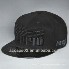 Fashionable leather brim snapback hat