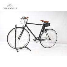 Competência de cidade de poder adicionado ebike única velocidade fixa engrenada bicicleta elétrica