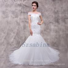Vente en gros 2017 alibaba sirène sweetheart neck lace up with long train wedding dress