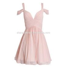 Pink A-Line Homecoming Dress Straps Cute Evening Dress Short Dress