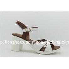 2017 Latest Unique Design Comfort Thick Heel Lady Sandal