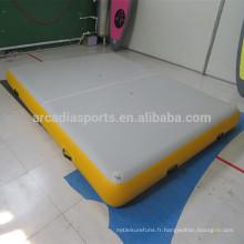 Tapis flottant gonflable durable solide d'eau de ponton de ponton