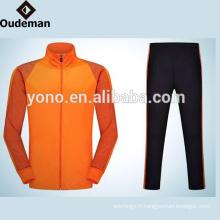 Haute qualité à manches longues robe zippée Mens Track Top Plain Tracksuit