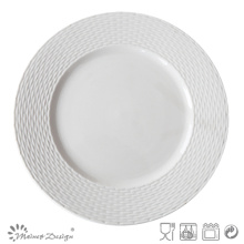 Embossed Ceramic Porcelain Royal Plate
