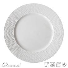 Embossed Ceramic Porcelain Royal Plate
