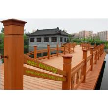 La verja compuesta de madera exterior PE fácil instala el cercado municipal de WPC del paisaje