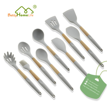 Neues Design 9PCS Silikon Kochgeschirr Set